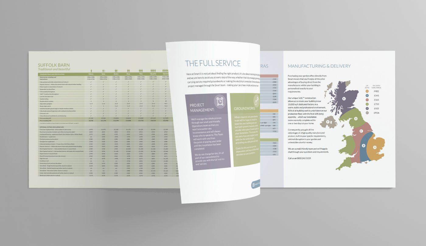 Blank opened Catalog / Brochure on dark background for your design