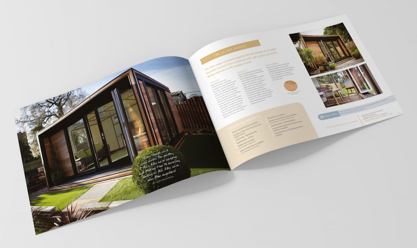 Blank brochure magazine mock up isolated on soft gray background.3d illustrated